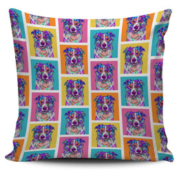 Border Collie Dog Breed Pillow Covers (Colorful Boxes)