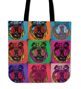 English Bulldog Dog Breed Tote Bag (Andy Warhol Pattern)