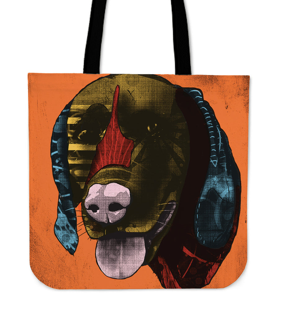 German Shorthaired Pointer Dog Breed Tote Bag (Andy Warhol Style)