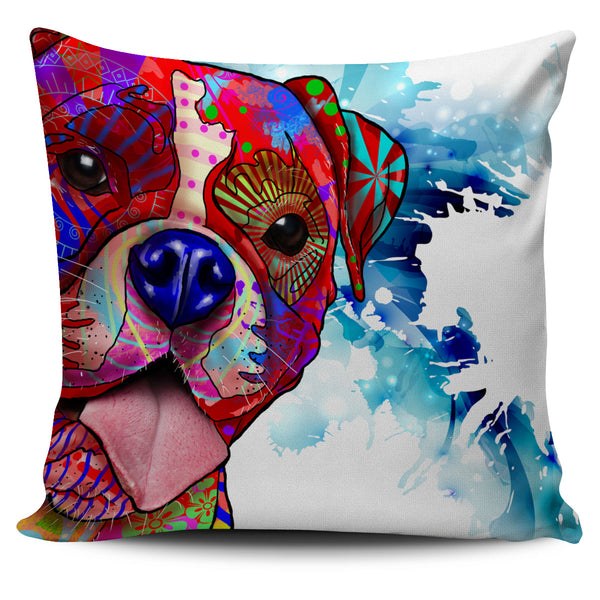Boxer Dog Breed Pillow Covers (Abstract Designs)