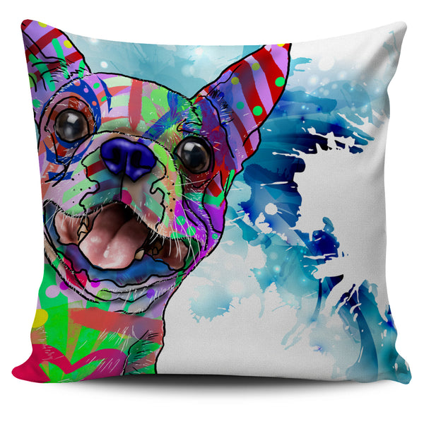 Boston Terrier Dog Breed Pillow Covers (Abstract Designs)
