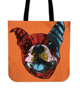 Boston Terrier Dog Breed Tote Bag (Andy Warhol Style)