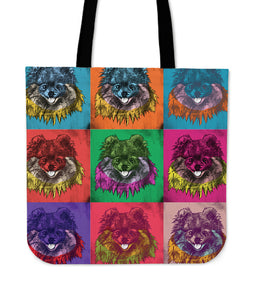 Pomeranian Dog Breed Tote Bag (Andy Warhol Style)