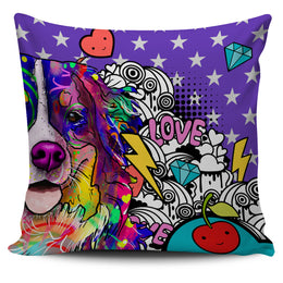 Bernese Mountain Dog Breed Pillow Covers (Fun Love Carnival)