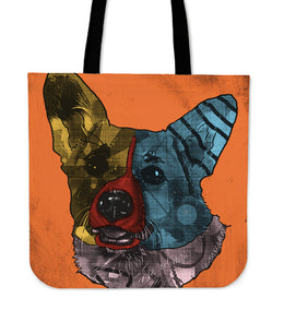 Corgi Dog Breed Tote Bag (Andy Warhol Style)