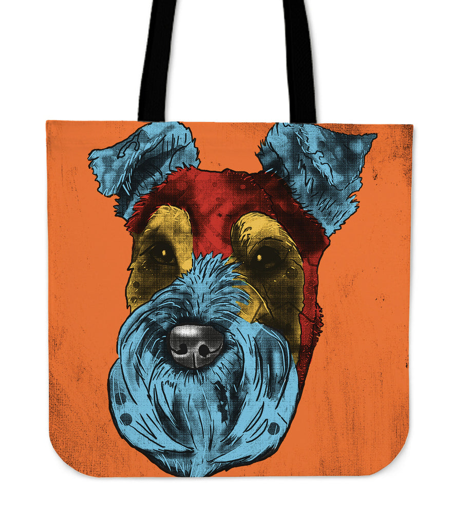 Schnauzer Dog Breed Tote Bag (Andy Warhol Style)