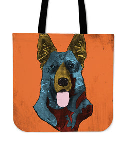 German Shepherd Dog Breed Tote Bag (Andy Warhol Style)
