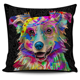 Australian Shepherd Dog Breed Pillow Covers (Dark Love Doodles)