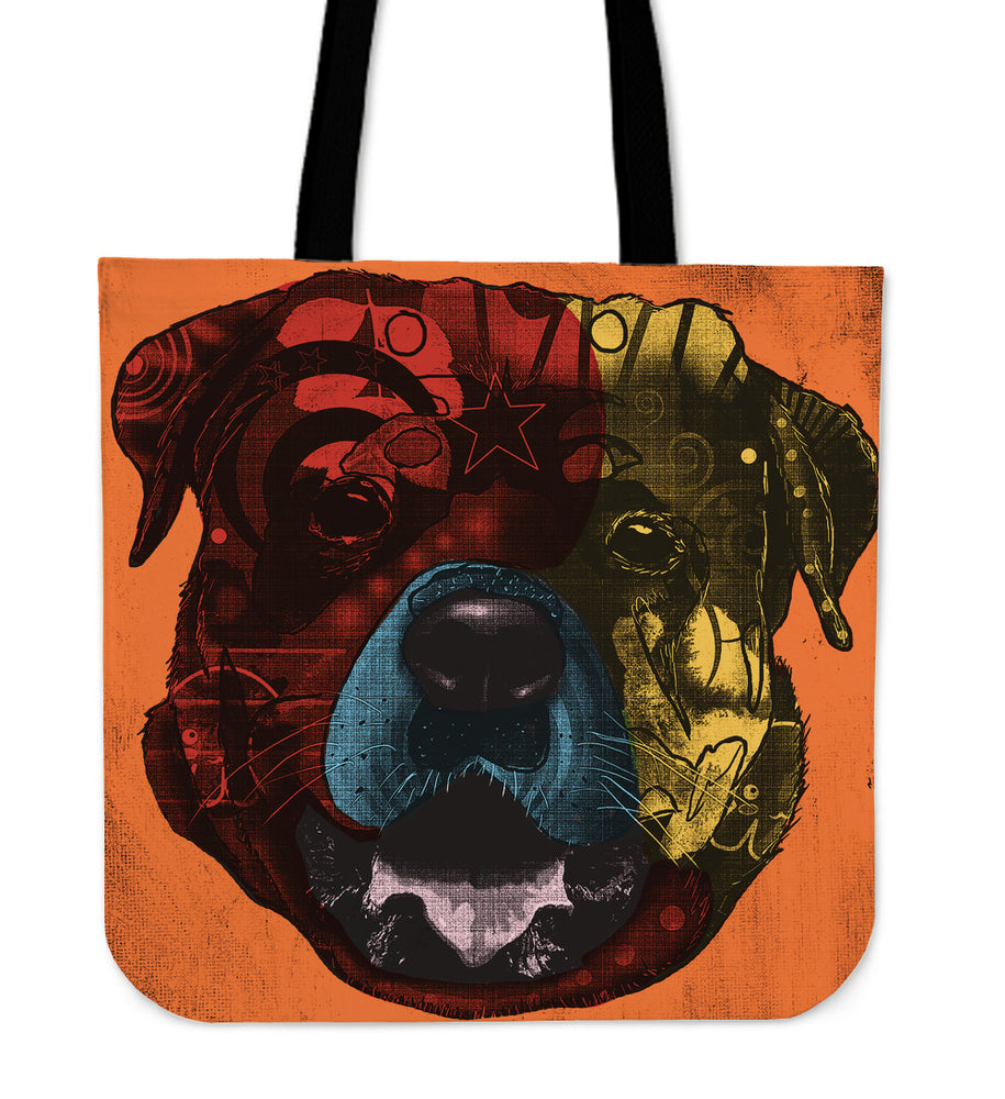 Rottweiler Dog Breed Tote Bag (Andy Warhol Style)