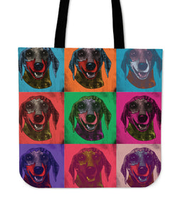 Dachshund Dog Breed Tote Bag (Andy Warhol Pattern)