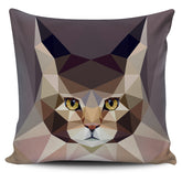 FREE Low Poly Cat Pillow Covers