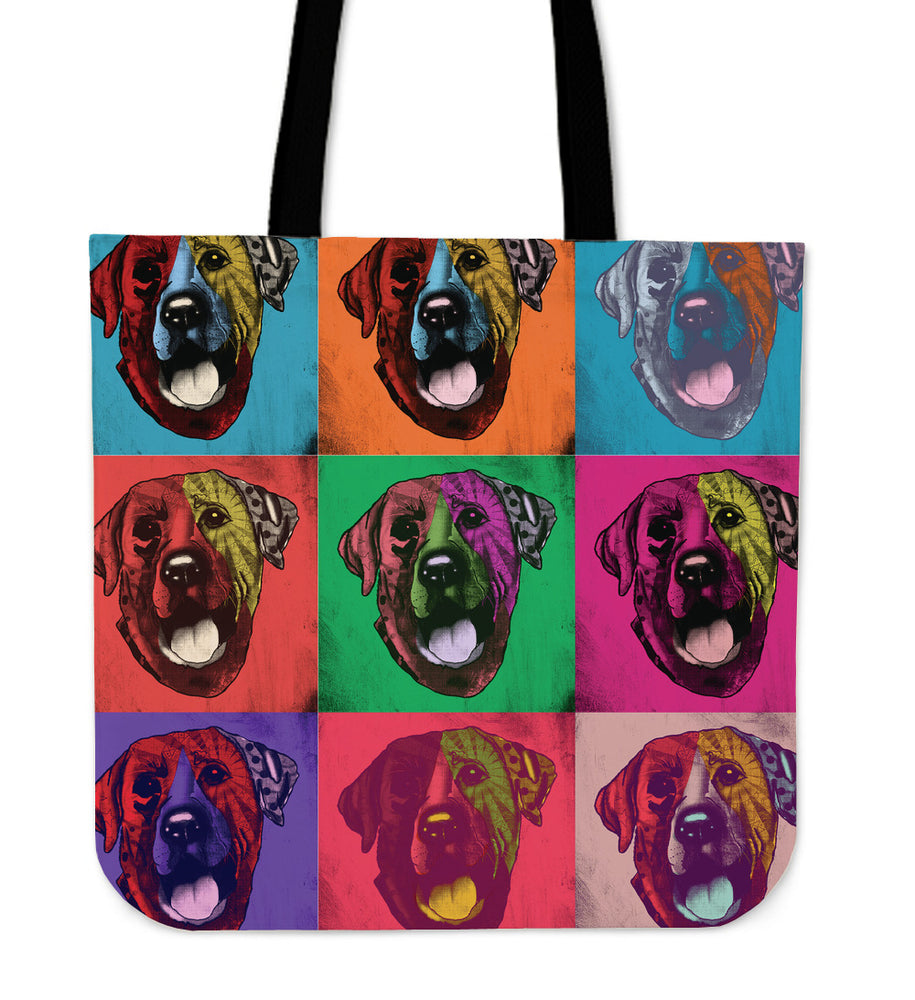 Labrador Retriever Dog Breed Tote Bag (Andy Warhol Pattern)