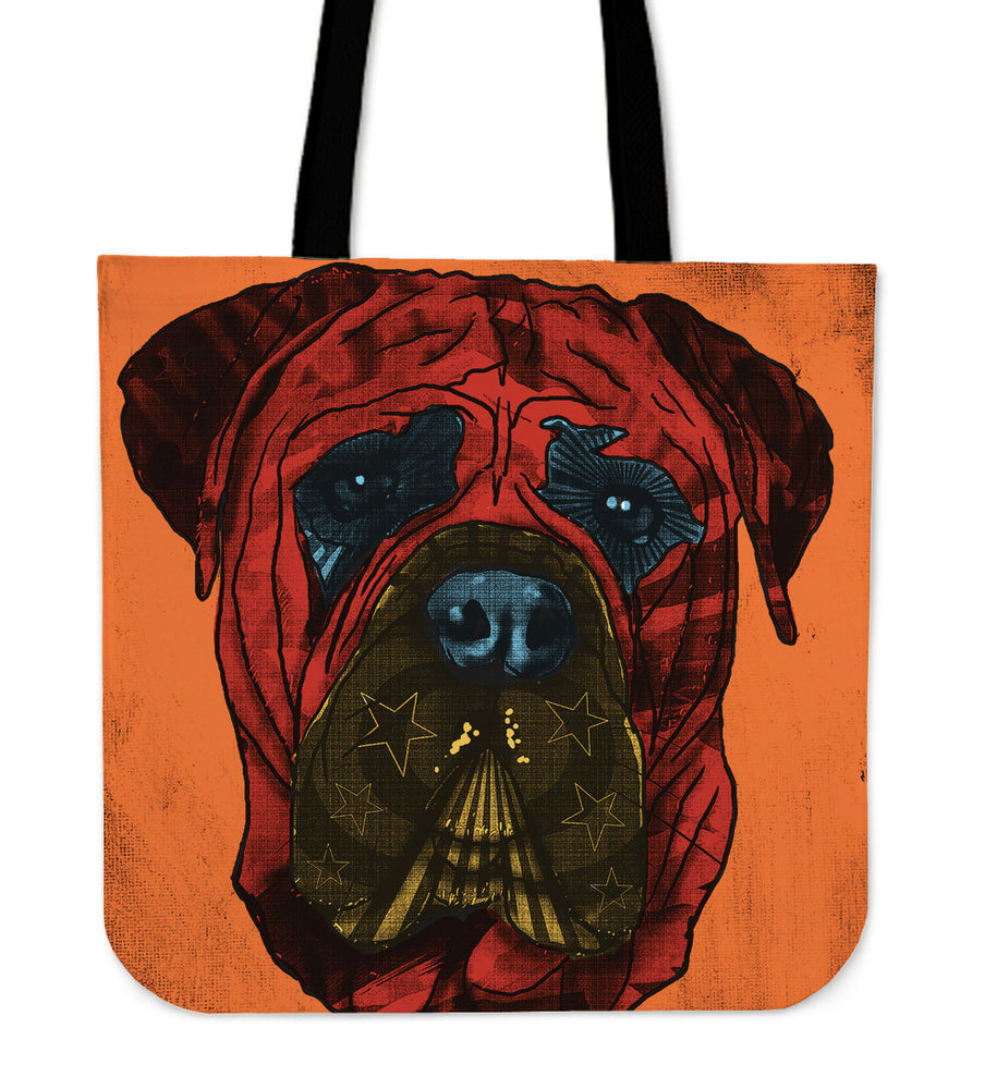 Mastiff Dog Breed Tote Bag (Andy Warhol Style)