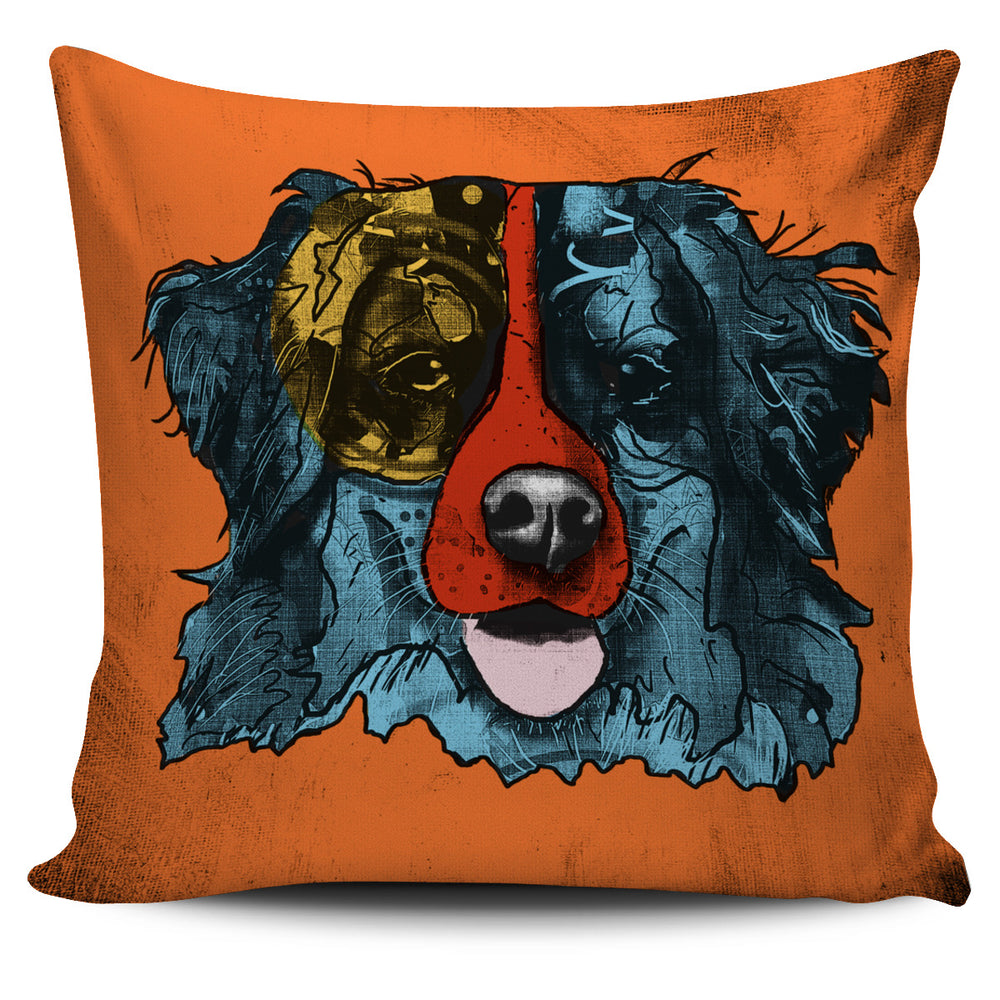 Bernese Mountain Dog Breed Pillow Covers (Andy Warhol Style)