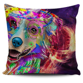 Australian Shepherd Dog Breed Pillow Covers (Abstract Designs)