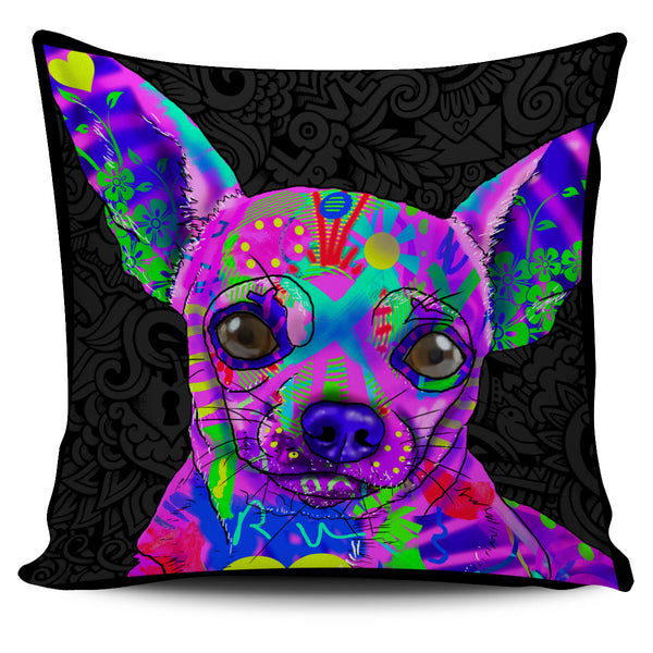 Chihuahua Dog Breed Pillow Covers (Dark Love Doodles)
