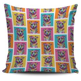 Australian Shepherd Dog Breed Pillow Covers (Colorful Boxes)