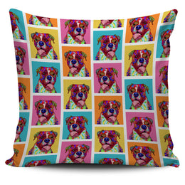 Boxer Dog Breed Pillow Covers (Colorful Boxes)