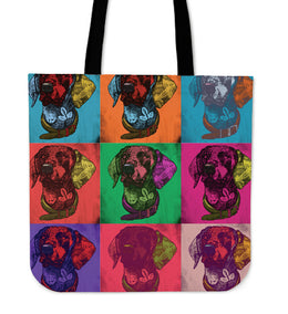 Deutsch Kurzhaar Dog Breed Tote Bag (Andy Warhol Pattern)