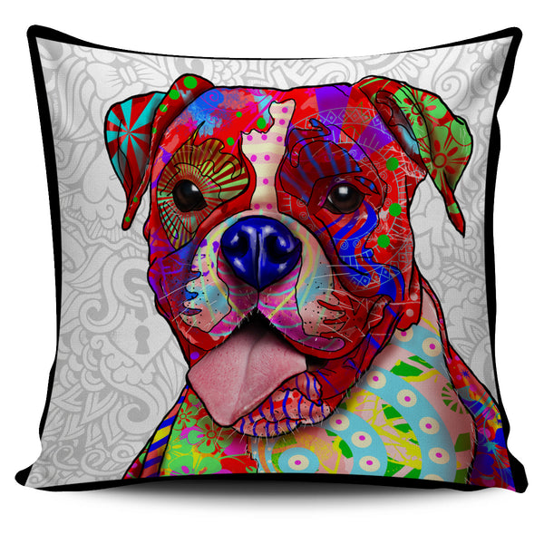 Boxer Dog Breed Pillow Covers (Light Love Doodles)