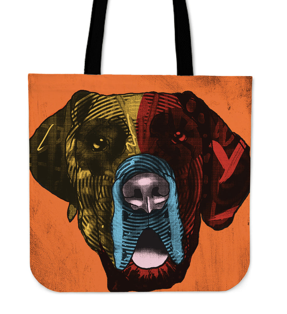 Great Dane Dog Breed Tote Bag (Andy Warhol Style)