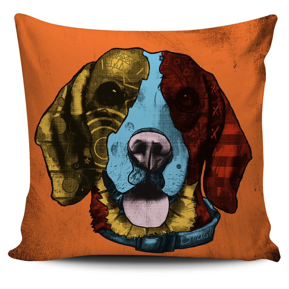 Beagle Dog Breed Pillow Covers (Andy Warhol Style)