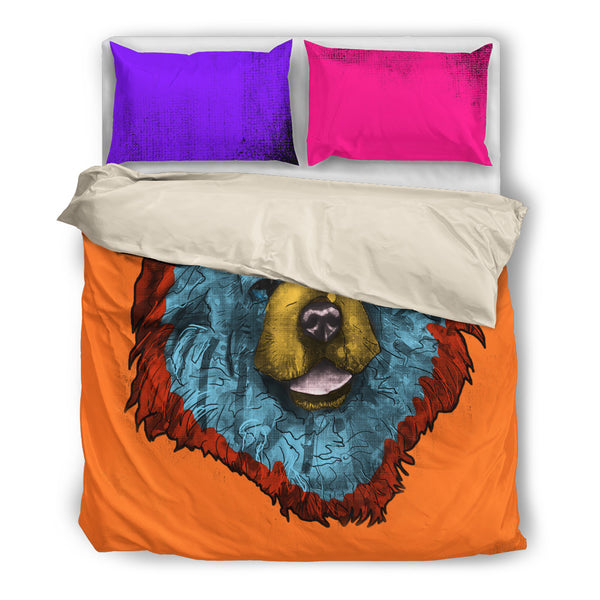 Chow Dog Breed Bed Sheets Duvet Cover Bedding Set (Andy Warhol Style)