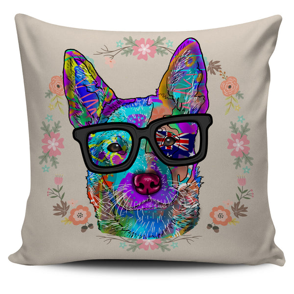 Australian Cattle Dog Breed Pillow Covers (Glasses)