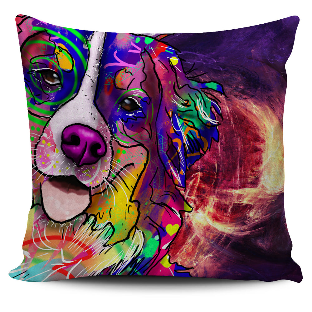 Bernese Mountain Dog Breed Pillow Covers (Abstract Designs)