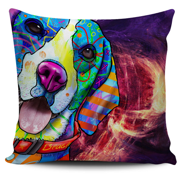 Beagle Dog Breed Pillow Covers (Abstract Designs)