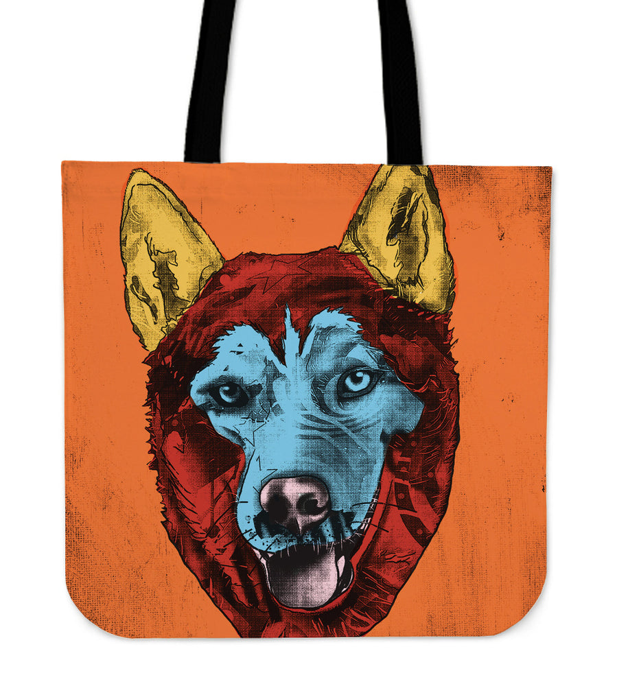 Siberian Husky Dog Breed Tote Bag (Andy Warhol Style)