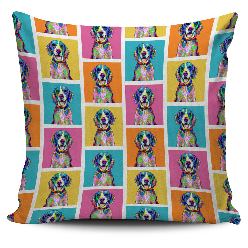 Beagle Dog Breed Pillow Covers (Colorful Boxes)