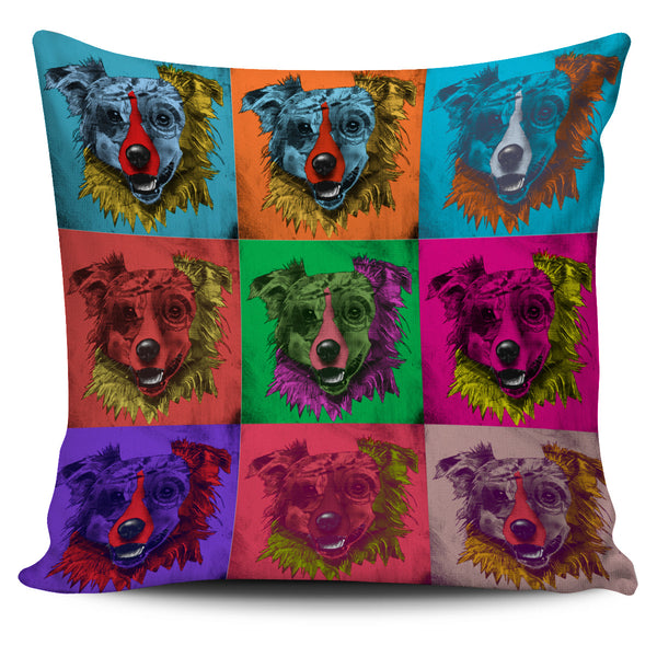 Australian Shepherd Dog Breed Pillow Covers (Andy Warhol Pattern)