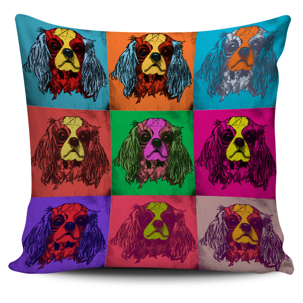 Cavalier King Charles Spaniel Dog Breed Pillow Covers (Andy Warhol Pattern)