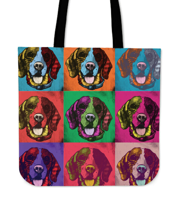Beagle Dog Breed Tote Bag (Andy Warhol Pattern)