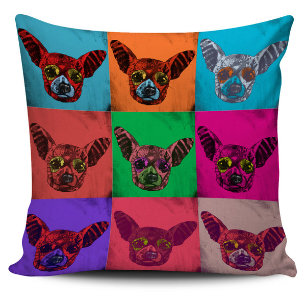Chihuahua Dog Breed Pillow Covers (Andy Warhol Pattern)