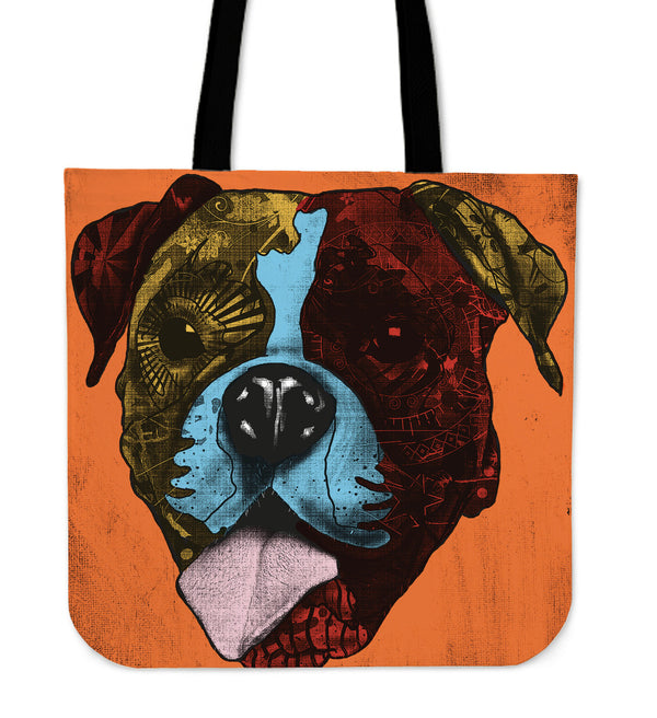 Boxer Dog Breed Tote Bag (Andy Warhol Style)