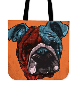 Bulldog Dog Breed Tote Bag (Andy Warhol Style)