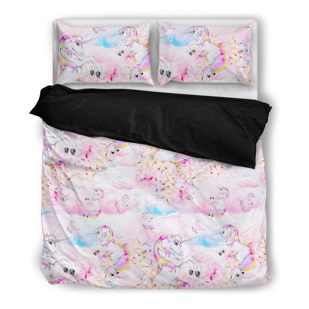 Rainbow Clouds Unicorn Bedding Set - Duvet, Pillow Cases [Twin / Queen / King Size]
