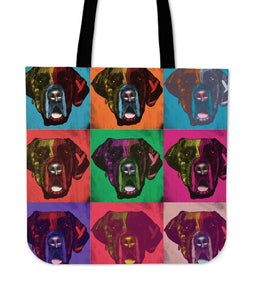 Great Dane Dog Breed Tote Bag (Andy Warhol Pattern)