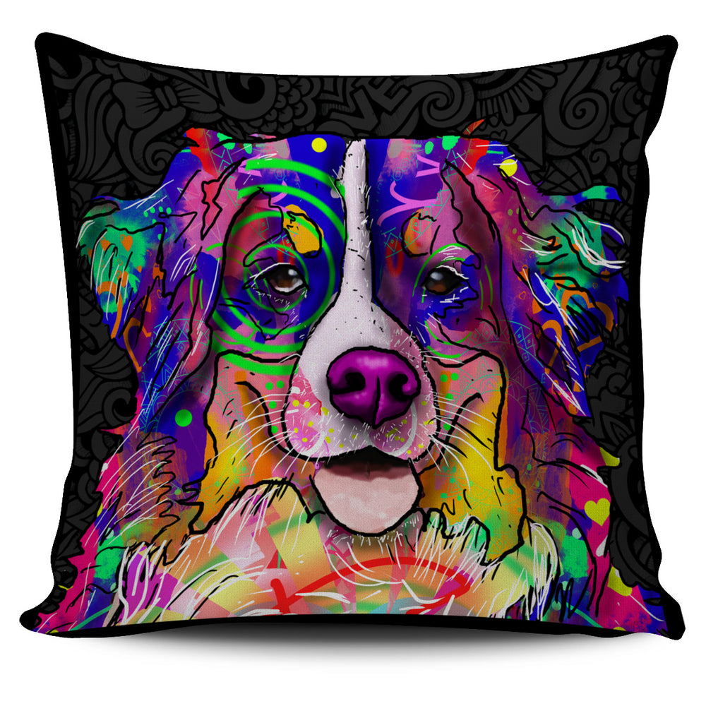 Bernese Mountain Dog Breed Pillow Covers (Dark Love Doodles)