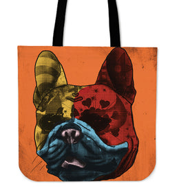 French Bulldog Dog Breed Tote Bag (Andy Warhol Style)