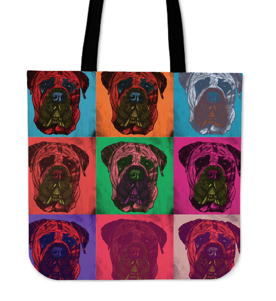 Mastiff Dog Breed Tote Bag (Andy Warhol Pattern)