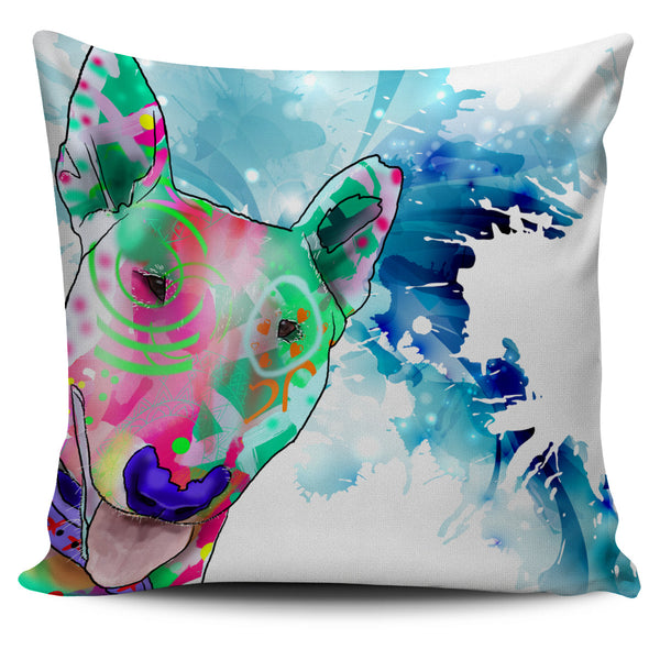 Bull Terrier Dog Breed Pillow Covers (Abstract Designs)