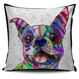 Boston Terrier Dog Breed Pillow Covers (Light Love Doodles)