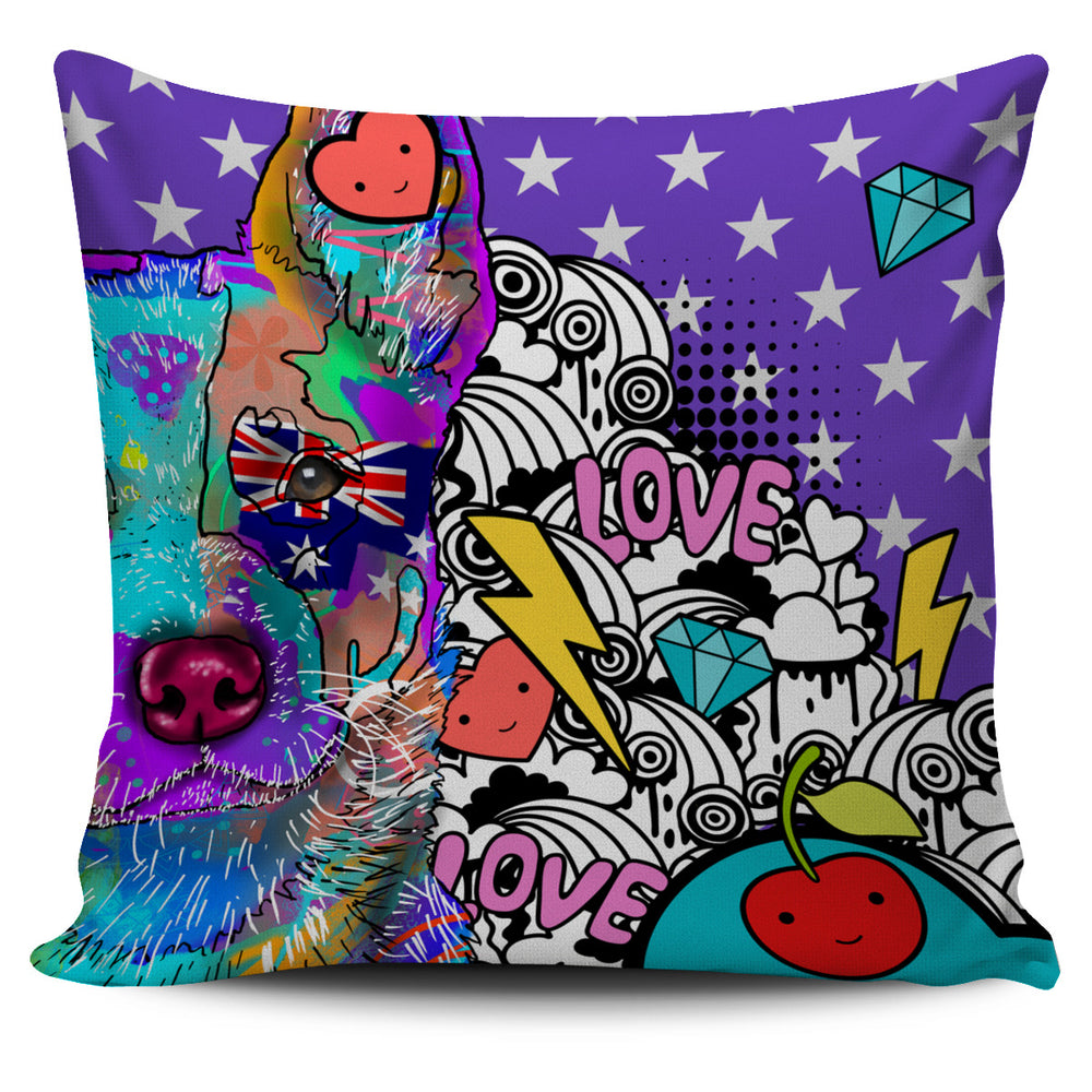 Australian Cattle Dog Breed Pillow Covers (Fun Love Carnival)