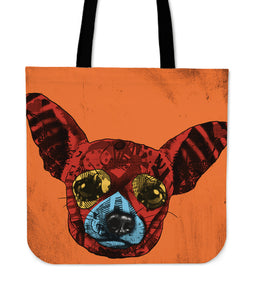 Chihuahua Dog Breed Tote Bag (Andy Warhol Style)
