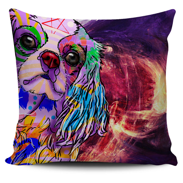 Cavalier King Charles Spaniel Dog Breed Pillow Covers (Abstract Designs)