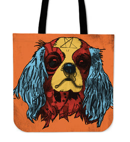 Cavalier King Charles Spaniel Dog Breed Tote Bag (Andy Warhol Style)