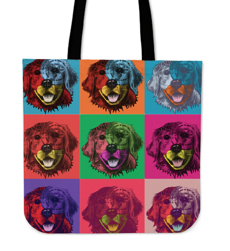 Golden Retriever Dog Breed Tote Bag (Andy Warhol Pattern)